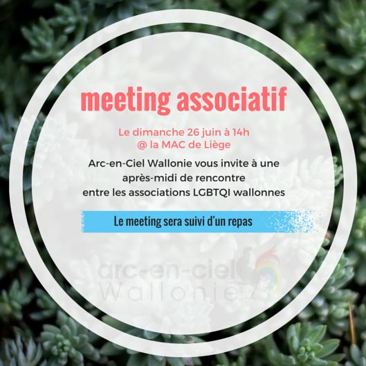 meeting associatif @ Rue Hors Château 7   Liège   Région wallonne   Belgique